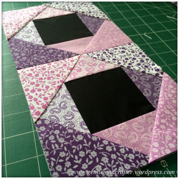 Fabric Friday - Foundation Paper Piecing Playtime - 11 Joining The Blocks
