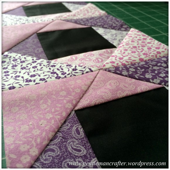 Fabric Friday - Foundation Paper Piecing Playtime - 12 Joining The Blocks 2