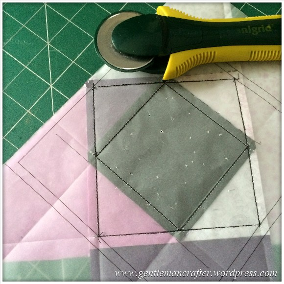 Fabric Friday - Foundation Paper Piecing Playtime - 7 Trimming