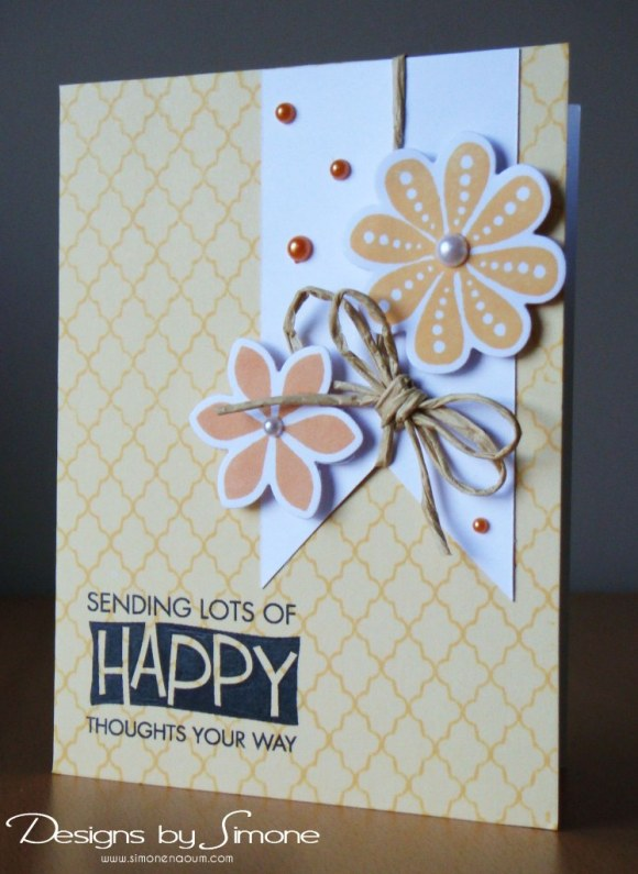 Worldwide Wednesday - Simone Naoum - Happy Thoughts Card