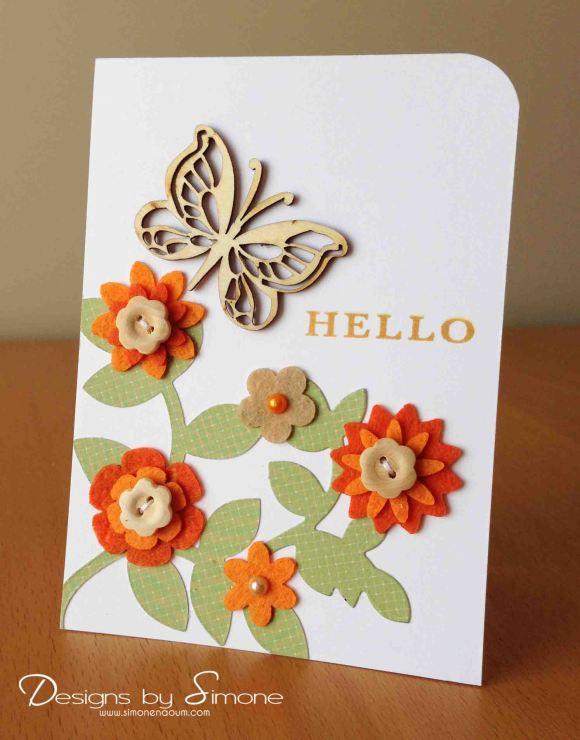 Worldwide Wednesday - Simone Naoum - Hello Butterfly Garden Card