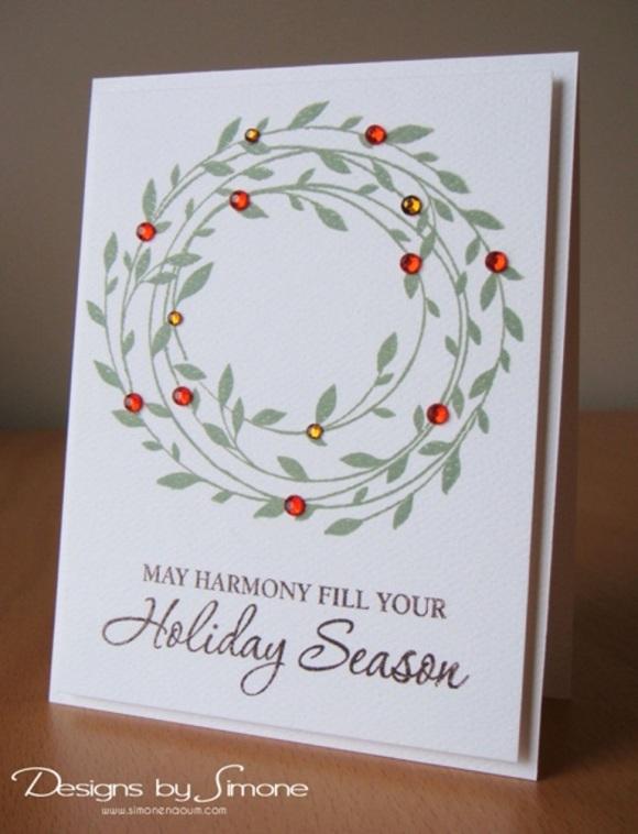 Worldwide Wednesday - Simone Naoum - Holiday Harmony Wreath Card