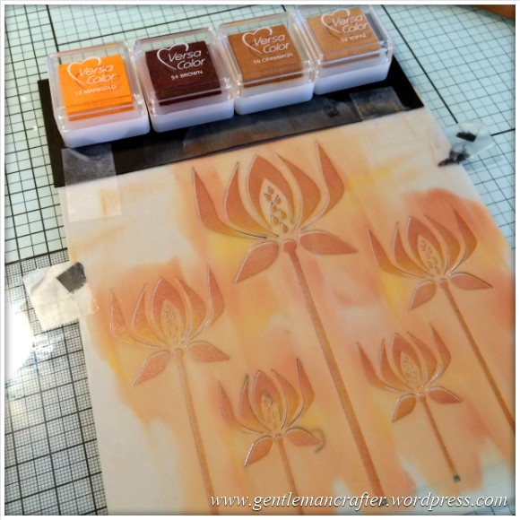 Monday Mash Up - Stencil Play Time - Versacolor Inks -  (1)