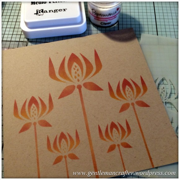 Monday Mash Up - Stencil Play Time - Versacolor Inks -  (3)