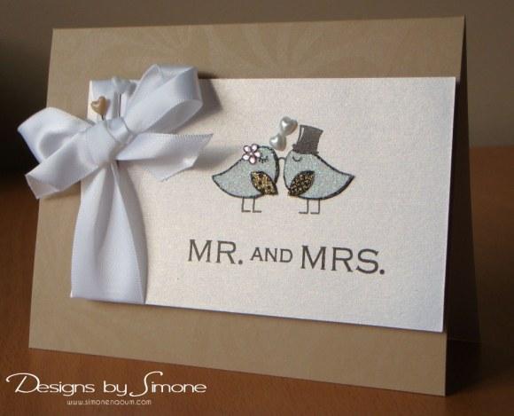 Worldwide Wednesday - Simone Naoum - Mr & Mrs Card
