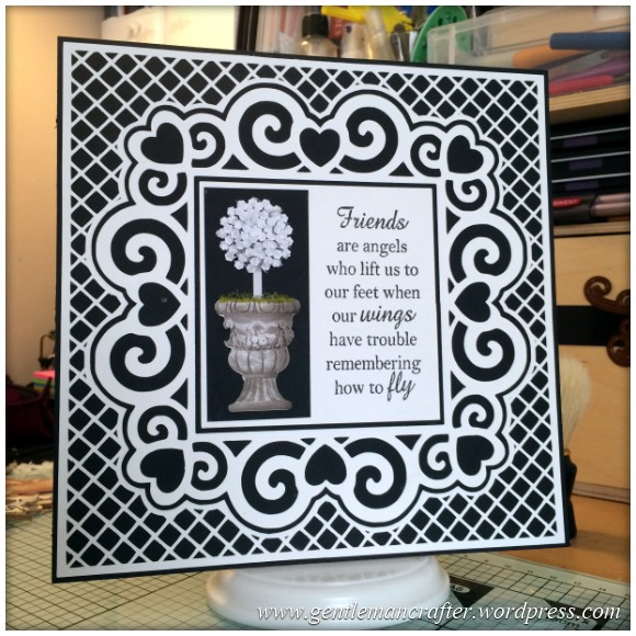 Scan It Saturday - Love Heart Swirly Frame Cutting File For The Brother Scan N Cut - Finished Card 2