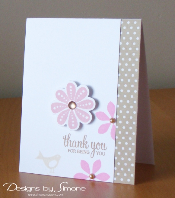 Worldwide Wednesday - Simone Naoum - Thank You For Being You Card