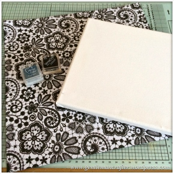 Monday Mash Up - Black and White Lacey Canvas - 1