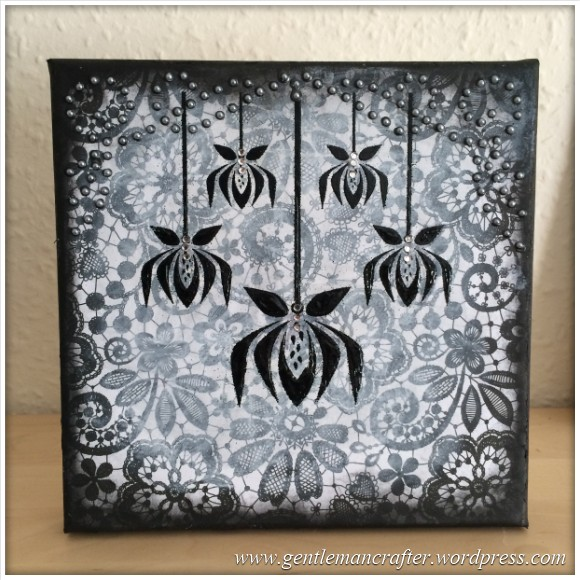 Monday Mash Up - Black and White Lacey Canvas - 10