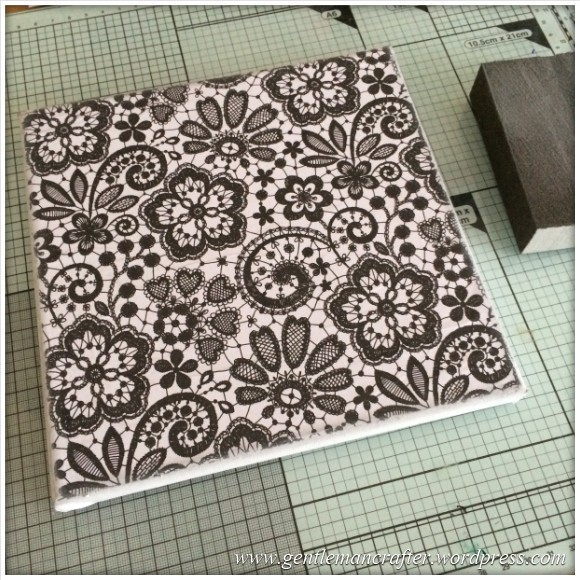 Monday Mash Up - Black and White Lacey Canvas - 2