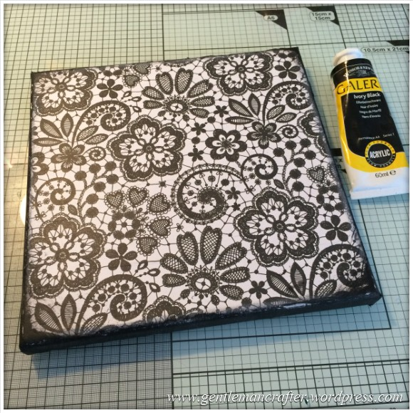 Monday Mash Up - Black and White Lacey Canvas - 3