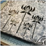 Monday Mash Up - Black and White Lacey Canvas - 4