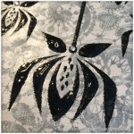 Monday Mash Up - Black and White Lacey Canvas - 6