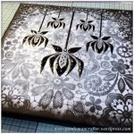 Monday Mash Up - Black and White Lacey Canvas - 7