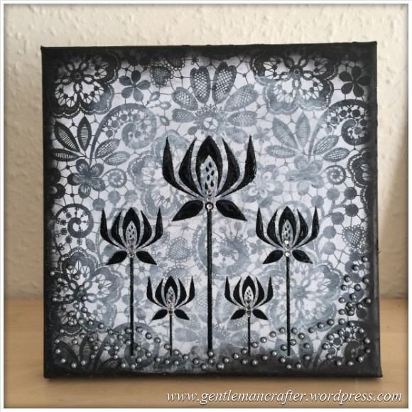 Monday Mash Up - Black and White Lacey Canvas - 9