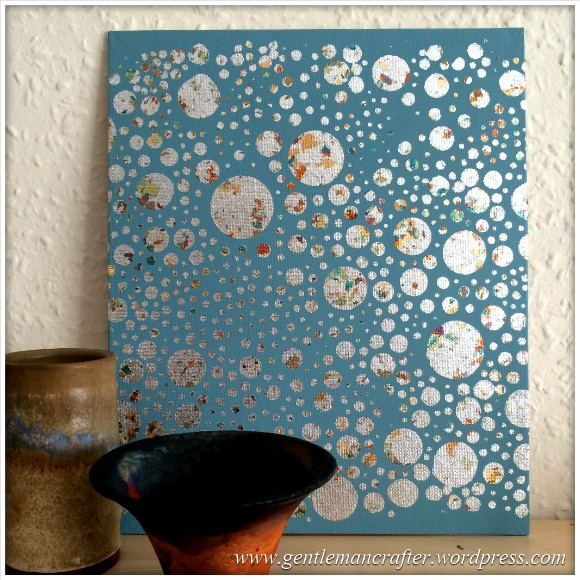 Monday Mash Up - A Metallic Bubble Effect Canvas - Finished Result 3