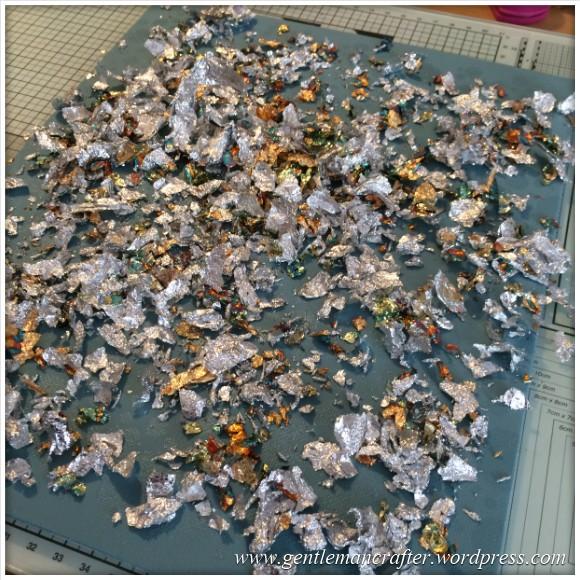 Monday Mash Up - A Metallic Bubble Effect Canvas - Gilding Flakes 2