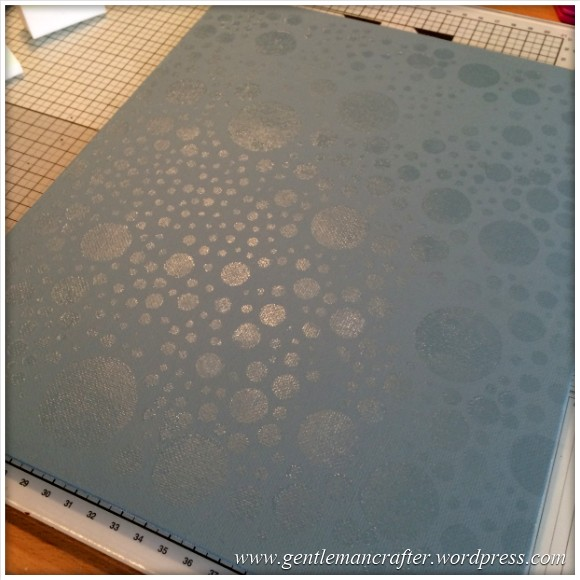 Monday Mash Up - A Metallic Bubble Effect Canvas - Glue On Canvas