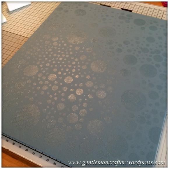Monday Mash Up - A Metallic Bubble Effect Canvas - Glue On Canvas