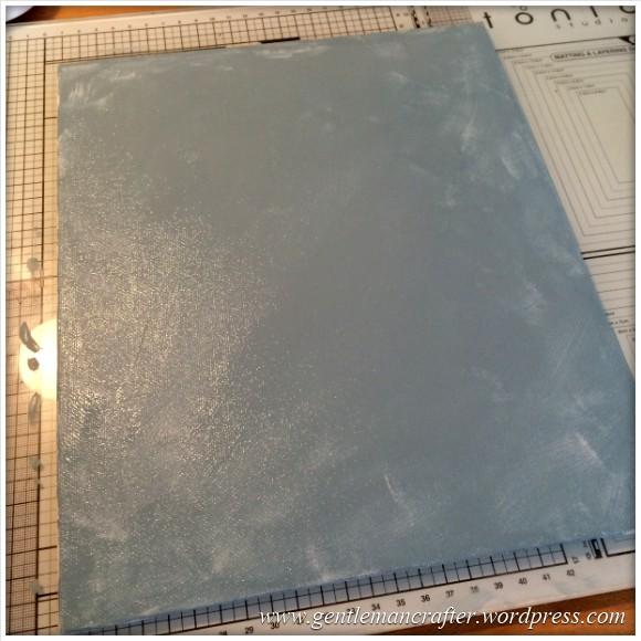 Monday Mash Up - A Metallic Bubble Effect Canvas - Painted Canvas