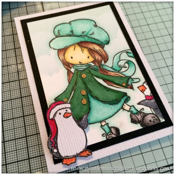 Stamp It Sunday - A Christmas Themed Artist Trading Card With Tiddly Inks Stamps - 13