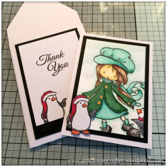 Stamp It Sunday - A Christmas Themed Artist Trading Card With Tiddly Inks Stamps - 15