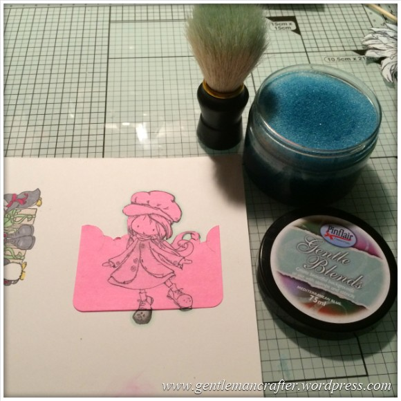 Stamp It Sunday - A Christmas Themed Artist Trading Card With Tiddly Inks Stamps - 9