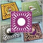 SVG Saturday - Diamond Circle Mandala Style Card Front Cutting File - Featured Image