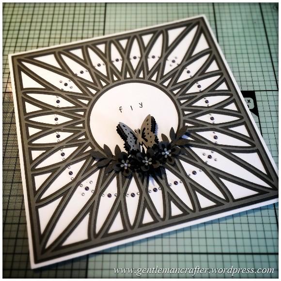 SVG Saturday - Diamond Circle Mandala Style Card Front Cutting File - Finished Card 1