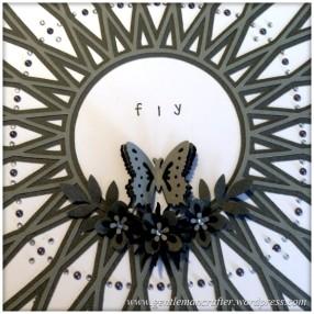 SVG Saturday - Diamond Circle Mandala Style Card Front Cutting File - Finished Card 2