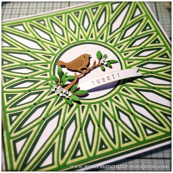 SVG Saturday - Diamond Circle Mandala Style Card Front Cutting File - Finished Card 3