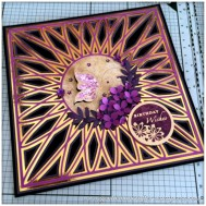 SVG Saturday - Diamond Circle Mandala Style Card Front Cutting File - Finished Card 5