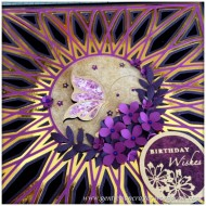 SVG Saturday - Diamond Circle Mandala Style Card Front Cutting File - Finished Card 6