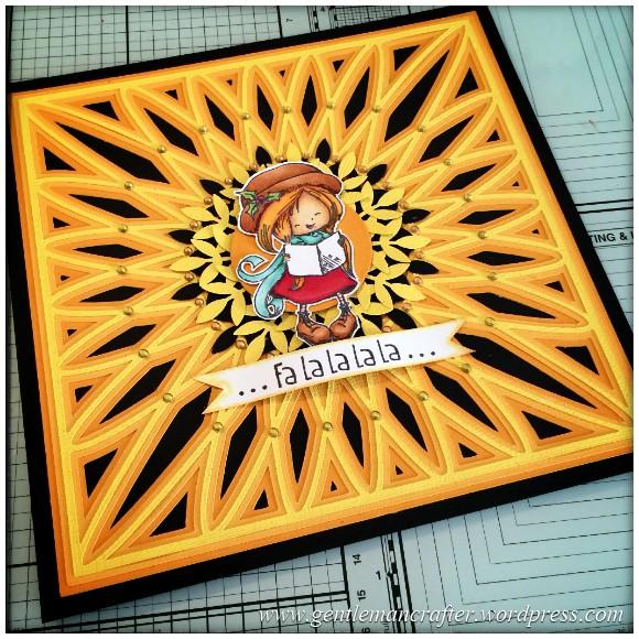 SVG Saturday - Diamond Circle Mandala Style Card Front Cutting File - Finished Card 7