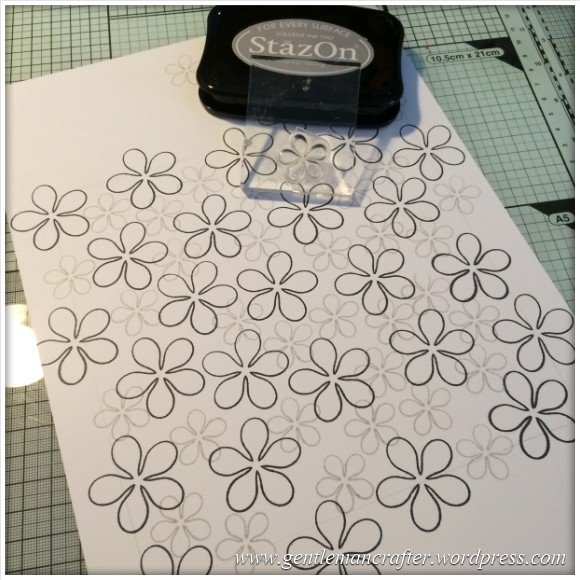 Dreamees Essential Flowers Stamp Set - Thinking Of You - Stamp It Sunday - 3