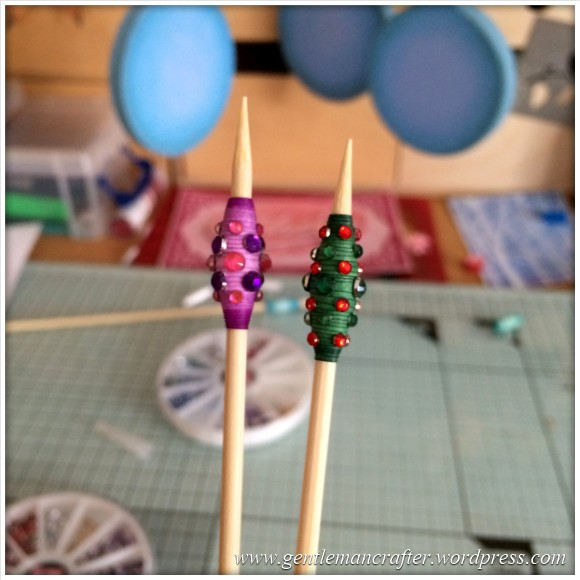 Paper Bead Tree Decorations - 9