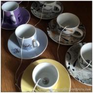 Hand Made Tea Cup Tealights - 1