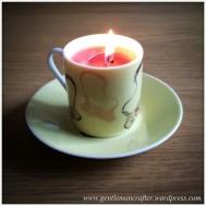 Hand Made Tea Cup Tealights - 3