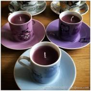 Hand Made Tea Cup Tealights - 4