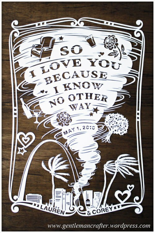 Worldwide Wednesday - Julene Harrison Paper Artist - Tornado Love