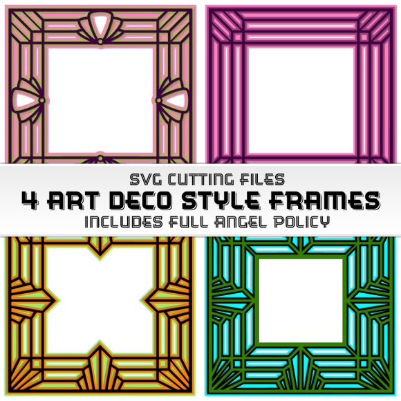 Square Art Deco SVG Cutting Files by John Bloodworth Gentleman Crafter