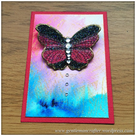 Artist Trading Card Daily Using Impression Obsession Reverse Peacock Cover A Card Stamp And Color Burst - 92.1