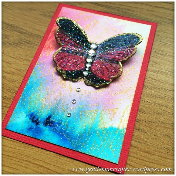 Artist Trading Card Daily Using Impression Obsession Reverse Peacock Cover A Card Stamp And Color Burst - 92.2