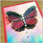 Artist Trading Card Daily Using Impression Obsession Reverse Peacock Cover A Card Stamp And Color Burst - 92.3
