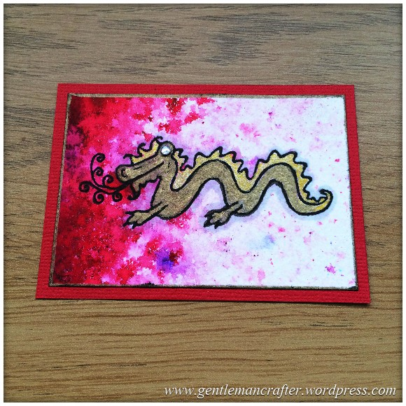 Artist Trading Card Daily Using Woodware Oriental Elements Stamps By Francoise Read - 91.1
