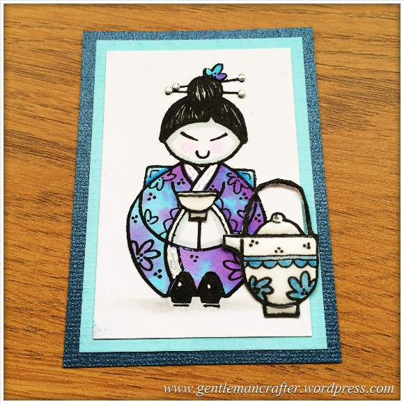 Artist Trading Card Using Woodware Oriental Elements Stamps by Francoise Read - 89.2