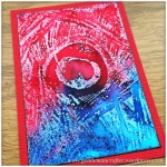 Artist Trading Card With Reverse Peacock Cover A Card Stamp From Impression Obsessions - 90.3