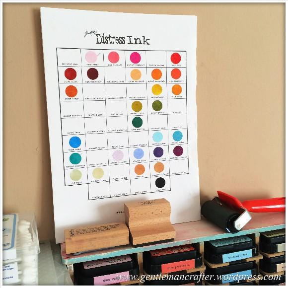 Tim Holtz Distress Inkpad Colour Chart