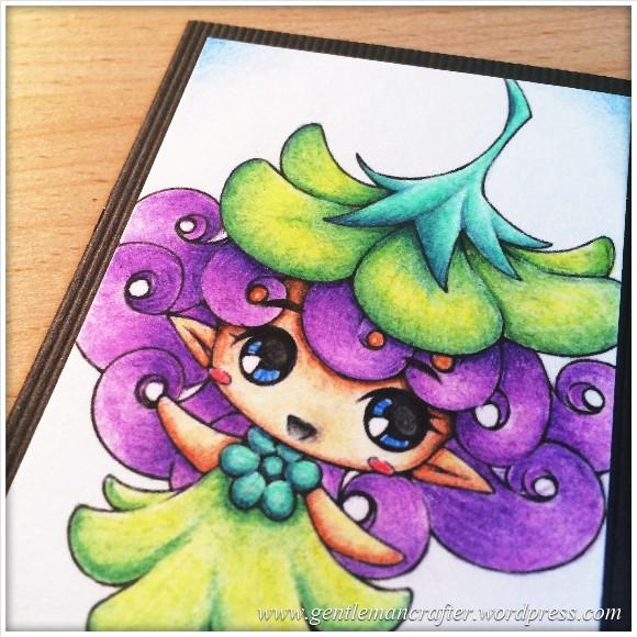 Artist Trading Card 93 - Digi Stamp Colouring - Close Up