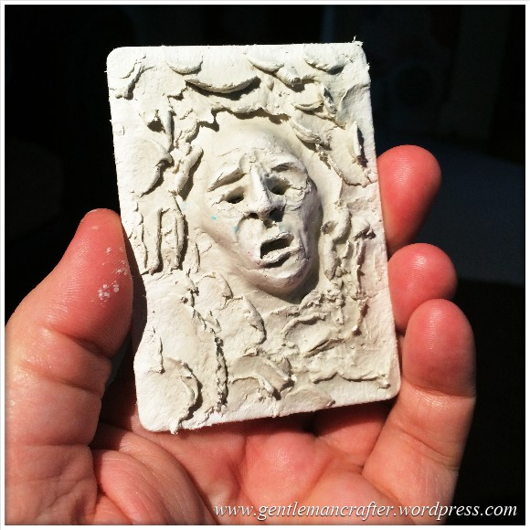 Artist Trading Card Daily - 100 - Air Dry Clay Face 1